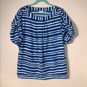New York and Company Striped Blouse